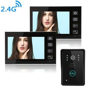 7'' Wireless Video Doorbell Security Door Bell Visual Photograph Home Monitor Night Vision Intercom