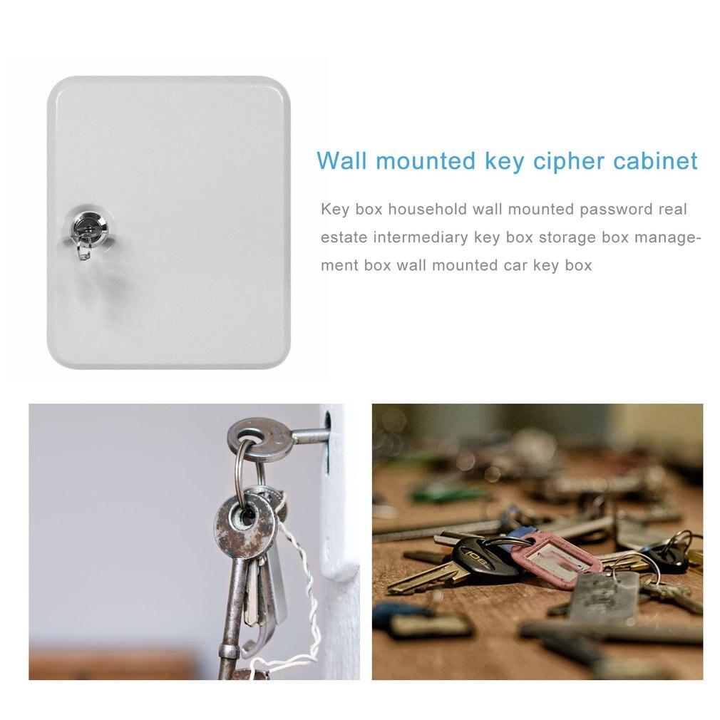 Key Box Household Wall-Mounted Password Key Cabinet Storage Box Management Box Wall-Mounted Car Key Box