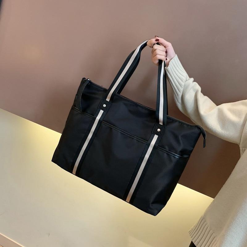 Fashion Ribbon Travel Bag Korean Version Of Large-capacity Handbag Simple One-shoulder Fitness Bag New Style