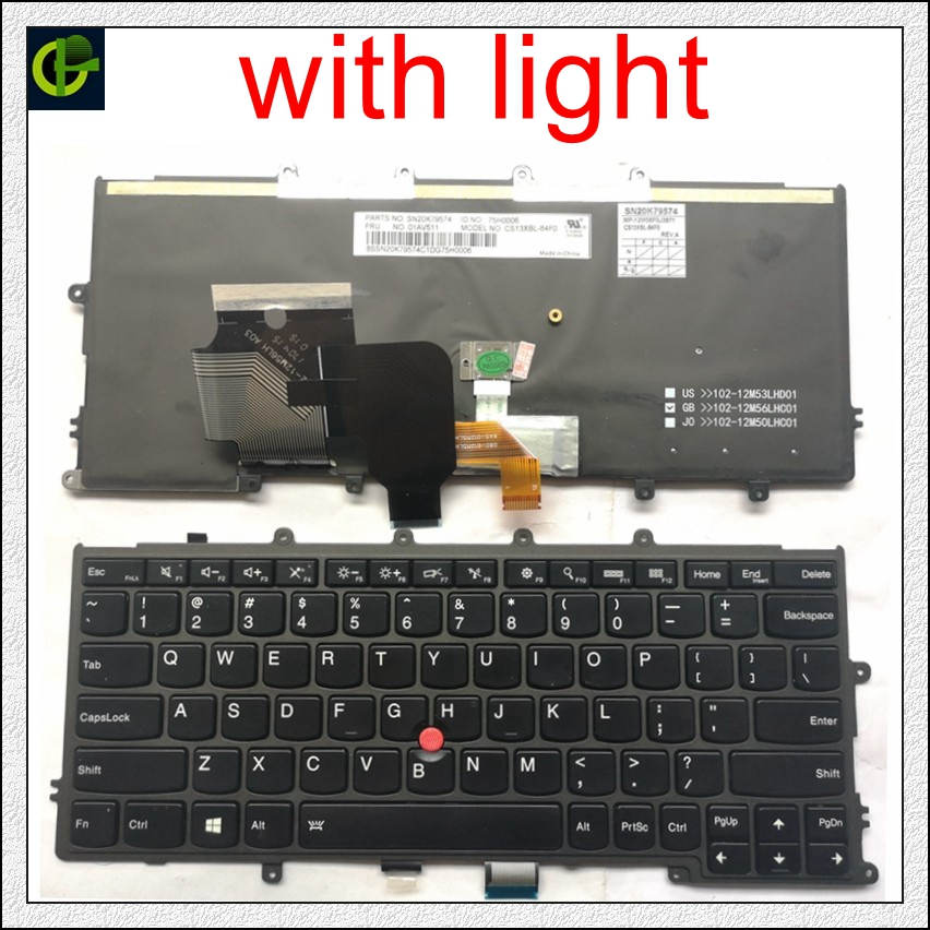 English Backlit Keyboard for FOR Lenovo IBM Thinkpad X230S X240 X240S X250 X260 0C44711 X240I X260S X250S X270 01EP008 01EP084 A-in Replacement Keyboards from Computer & Office on