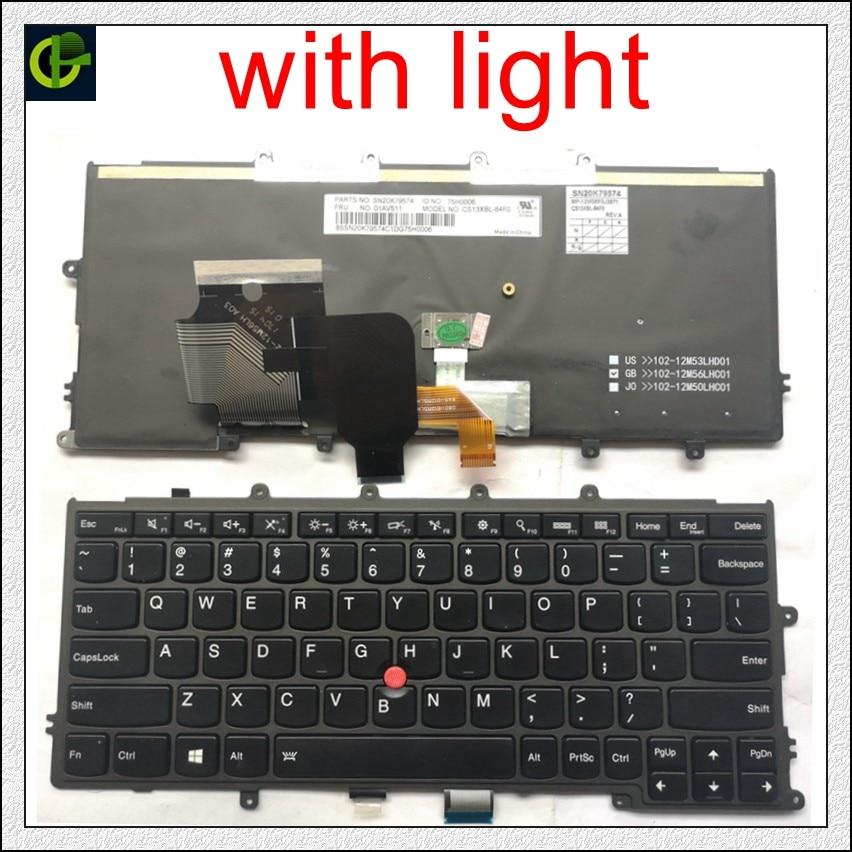 English Backlit Keyboard For FOR Lenovo IBM Thinkpad X230S X240 X240S X250 X260 0C44711 X240I X260S X250S X270 01EP008 01EP084 A