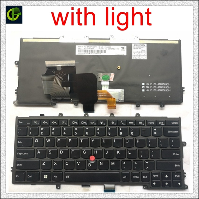English Backlit Keyboard for FOR Lenovo IBM Thinkpad X230S X240 X240S X250 X260 0C44711 X240I X260S X250S X270 01EP008 01EP084 A