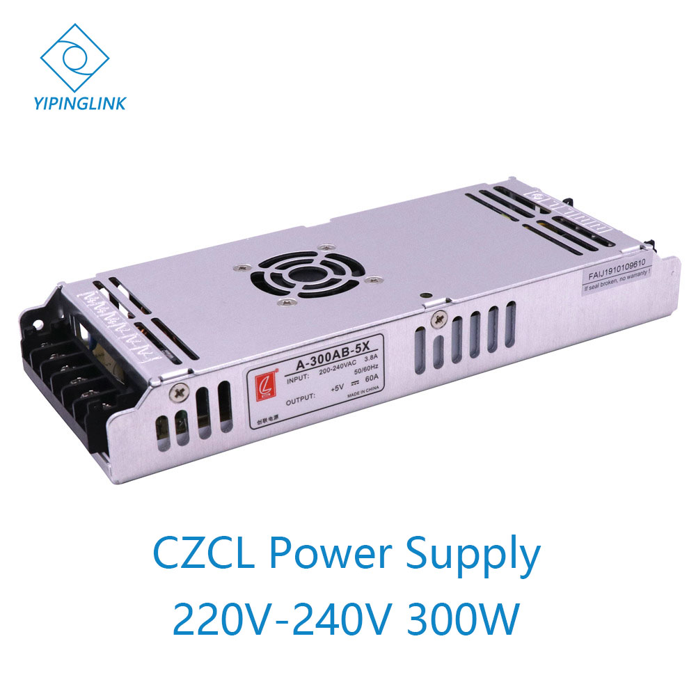 CZCL A-300AB-5 power supply LED display 300W power switching <font><b>200</b></font>-240V AC input 5V 60A output with <font><b>fan</b></font> LED module power image