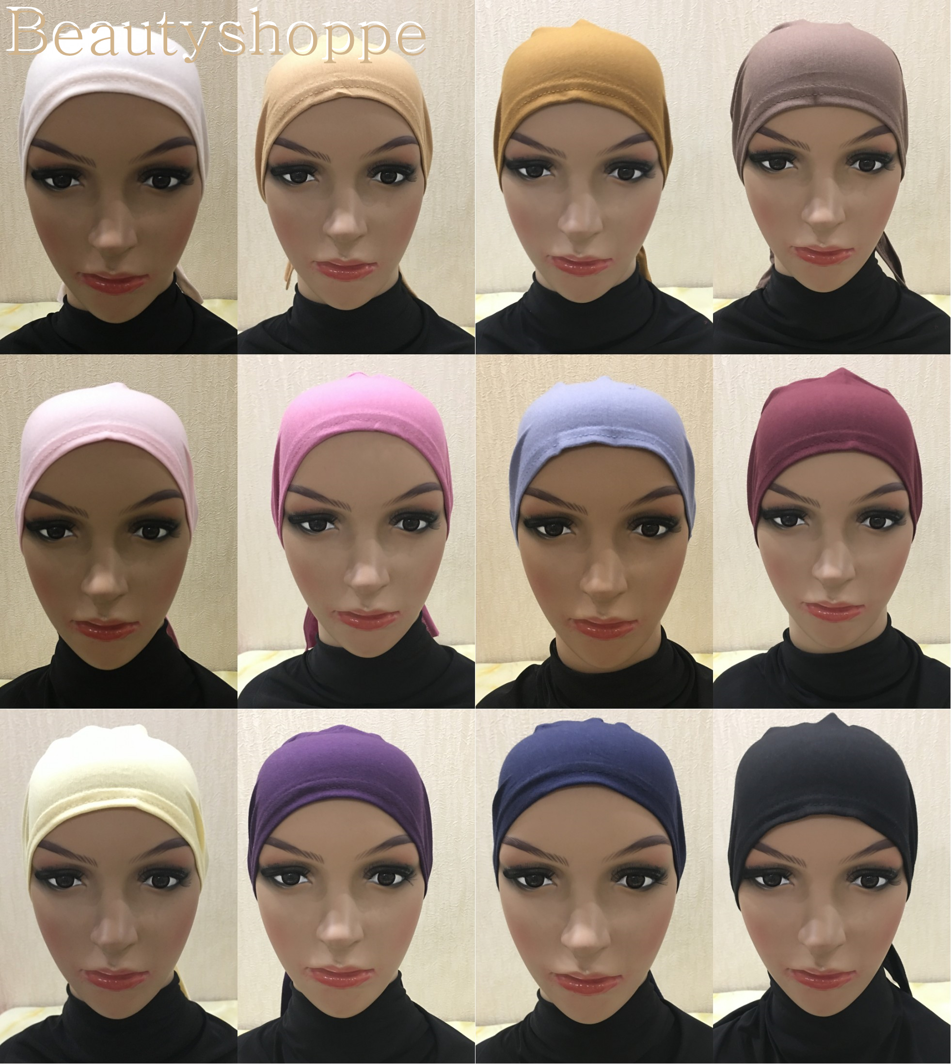 Scarves Hijab-Cap Headcover Underscarf Islamic-Head-Wear Bone-Bonnet Inner Turkish Muslim
