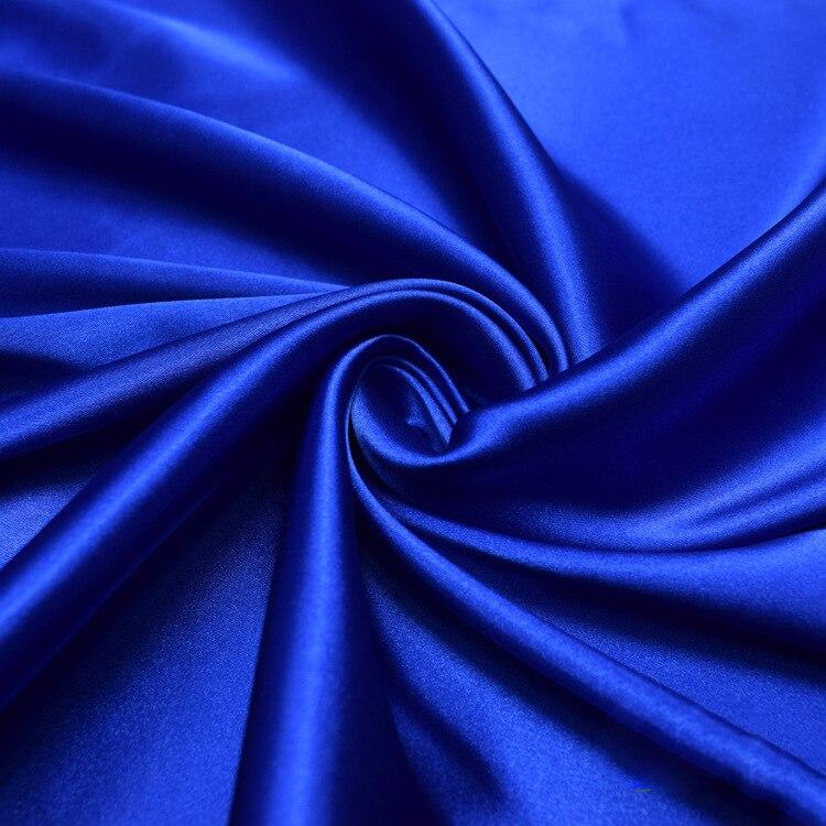 Weiche glitter blau stretch satin stoff für kleid hemd pyjamas, rot, rosa, grau, weiß, schwarz, grün, durch die meter