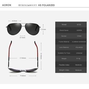 Image 5 - Aoron Gepolariseerde Zonnebril Heren Klassieke Zonnebril UV400 Coating Lens Aluminium Frame Rijden Brillen Voor Mannen
