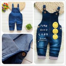 BibiCola/Детские комбинезоны мягкий джинсовый комбинезон для малышей Одежда для младенцев джинсовые штаны для маленьких девочек детские повседневные брюки для девочек