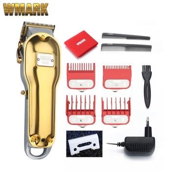 WMARK All-metal cordless hair clipper NG-2019 NG-2020 Electric Hair trimmer 2500mAh cordless hair cutter golden color 1