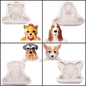 SHENHONG Basset собака корги силиконовая форма для украшения торта собака форма для полимерной глины форма животного десерт Кондитерские инструм...