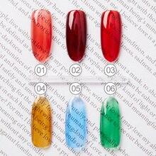 Bozlin 6 цветов глазури гель лак для ногтей 7.3 мл высокое качество замочить от светодиодных УФ-гель ногтей украшения лак креативный маникюр инструменты