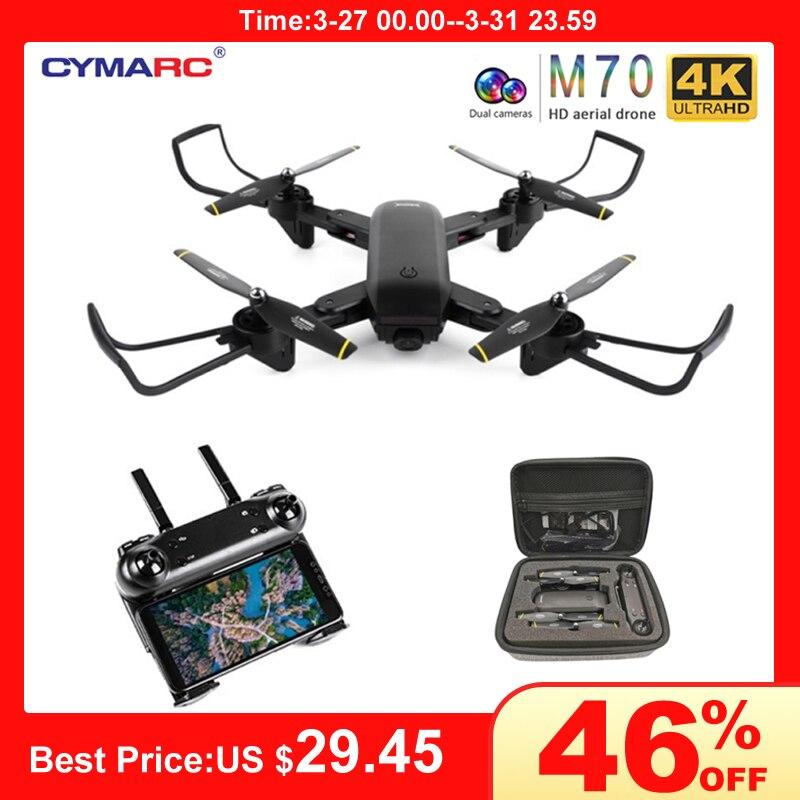 Teeggi M70 RC Drone With Camera HD 4K Camera 1080P FPV Selfie Dron Quadcopter Professional VS E58 VISUO XS809HW XS809S Drones