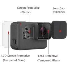 Закаленное стекло пленка ЖК-экран HD протектор Пылезащитная пленка для GoPro HERO 7 6 5 Аксессуары для экшн-камеры
