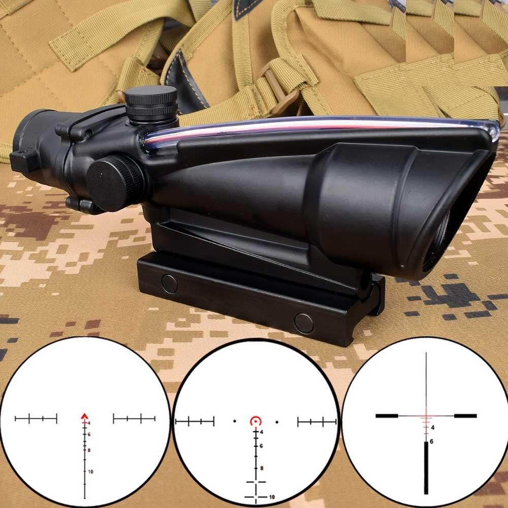 ACOG 5x35 Jagd Zielfernrohr Dual Beleuchtet Chevron Rot Grün Kreuz Fiber Scope Absehen Tactical Gewehr Optical Sight