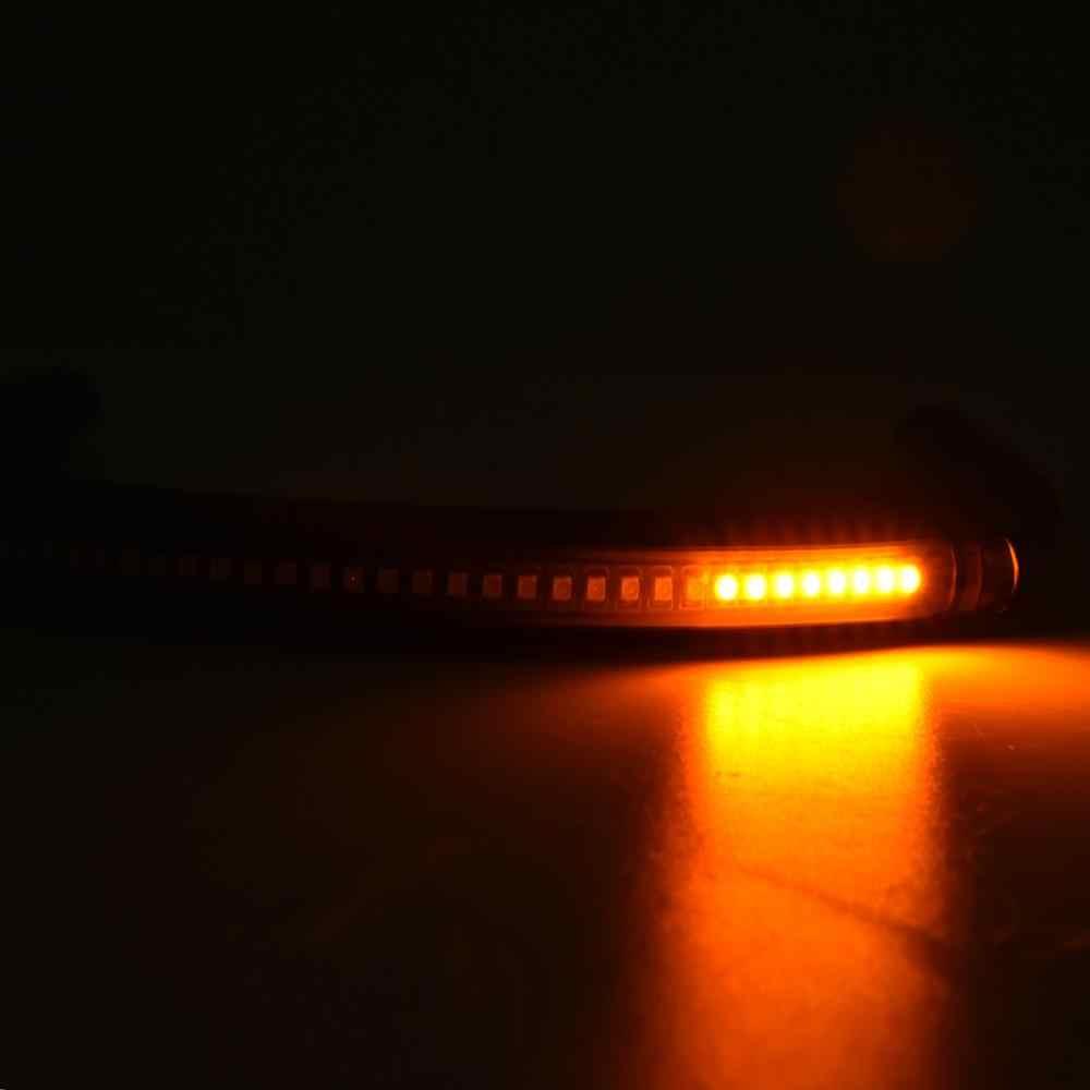 לקפה רייסר שלגון אחורי מושב מסגרת חישוק לולאה LED בלם הפעל זנב אור 230mm עבור הונדה CB 500 550 650 Yamaha XS סוזוקי GS