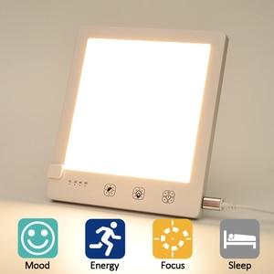 Бесступенчатая диммируемая лампа, фототерапия, бионический солнечный светильник, сенсорный терапевтический светильник, лампа Happy Lamp Depression,...