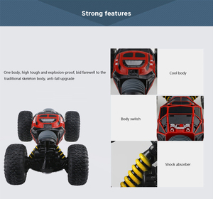 Image 4 - RC Car 2.4Ghz 1/16 4WD Double Sided Remote Control Car Amphibious Vehicle Stunt Car RC Stunt Car With Remote Controller For Fun