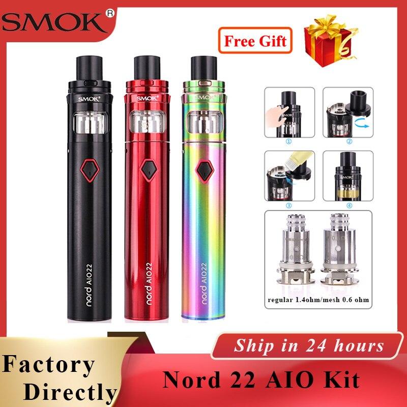 Vape SMok nord pod SMOK Nord 22 AIO Vape Kit 2000mAh &3.5ml Atomizer ALL-IN-ONE Vape kit E cigarette vaporizer kit vs stick 80w tech 2 scanner for sale