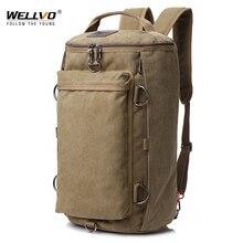 Винтажная мужская дорожная сумка, большая Вместительная дорожная сумка, мужской рюкзак для переноски багажа, сумка для хранения, сумки через плечо для путешествий XA86ZC