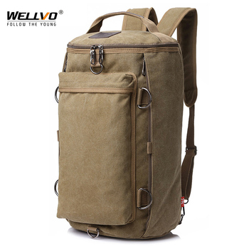 Vintage Men Travel Bag Large Capacity Duffle Rucksack Male Carry on Luggage Storage Bucket Shoulder Bags for Trip XA86ZC - discount item  41% OFF Travel Bags