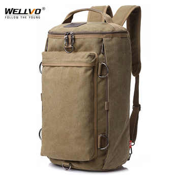Vintage Men Travel Bag Large Capacity Travel Duffle Rucksack Male Carry on Luggage Storage Bucket Shoulder Bags for Trip XA86ZC - Category 🛒 Luggage & Bags