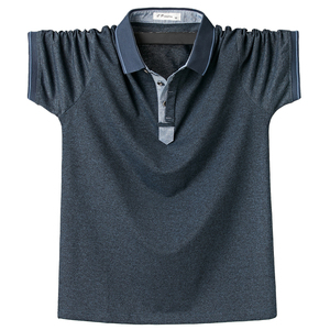 Image 4 - Purple Men Polo Shirt Top Business Office Men Camisa Masculina Cotton Badge Polo Shirt Plus Size 6XL Summer Casual Tee Shirts