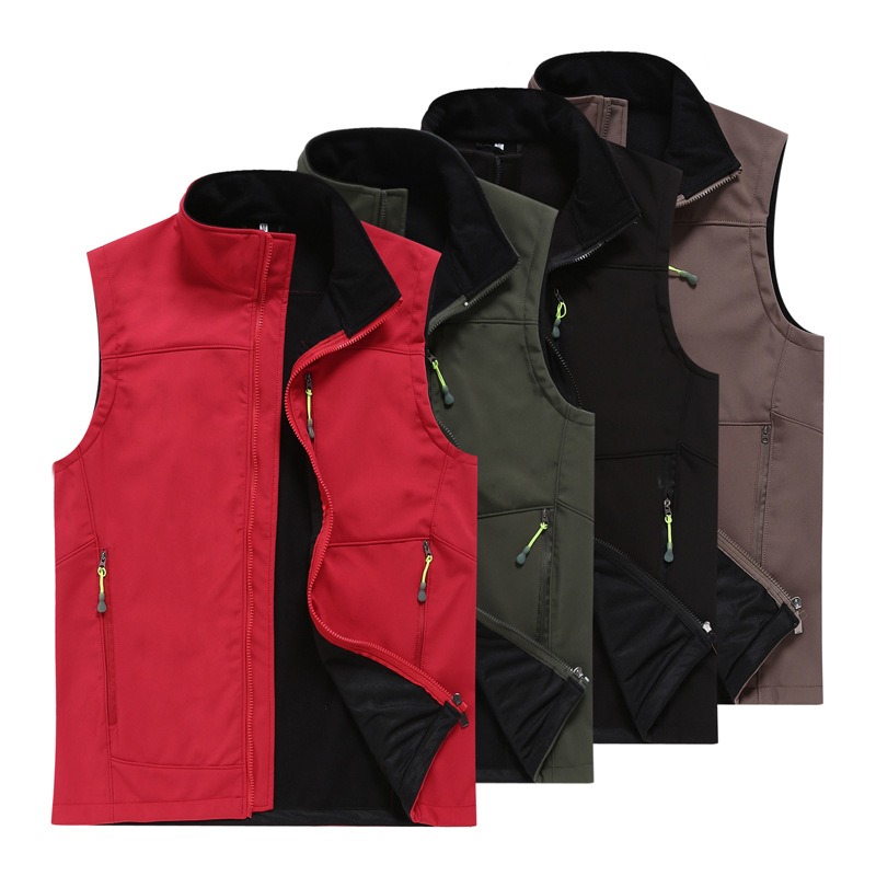 Customizable Groups Outdoor Activity Raincoat Jacket Soft Shell Waistcoat Volunteer Tour Pals Charge Vest Made