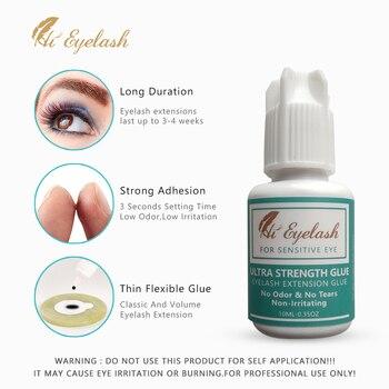 Ultra Super Glue For Eyelash Extensions 10ml NO Irritation NO Odor Sensitive Eyelash Glue 3 Seconds Drying Time 3-4 Week Black фото