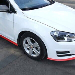 Image 3 - 2.5m zderzak samochodu Lip Strip Protectors Splitter Body zestawy Spoiler zderzaki drzwi samochodu zderzak z włókna węglowego gumowa warga 65mm szerokość taśmy
