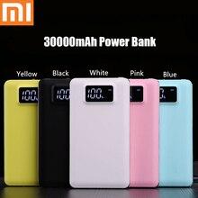 Xiao mi портативное зарядное устройство 30000mah power Bank Dual-USB PoverBank Внешняя батарея быстрая для Xiaomi mi IPhone светодиодный светильник ing