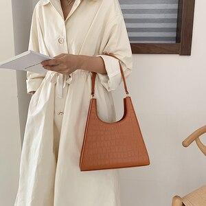 Image 4 - ワニのパターン女性のための 2020 の高級ハンドバッグ女性のバッグデザイナー pu レザーヴィンテージの女性のエレガントなトートバッグ
