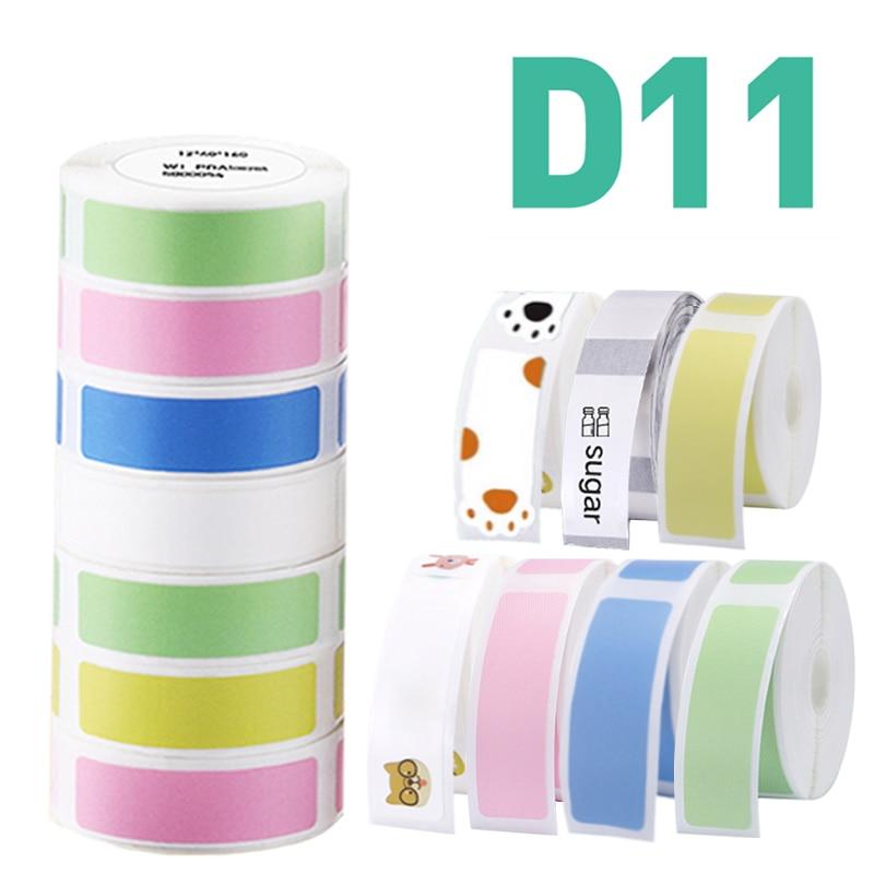 Niimbot D11 водостойкая устойчивая к разрыву жира ценовая этикетка чистый цвет устойчивая к царапинам бумага рулон