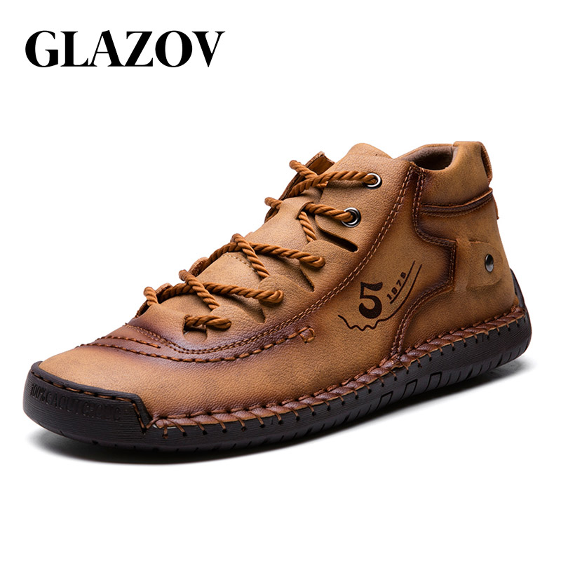 Fluff High Quality Mid-top Men Casual Shoes Outdoor Cow Split Leather Driving Loafer Fashion Male Flat Sneakers Shoes Size 38-48