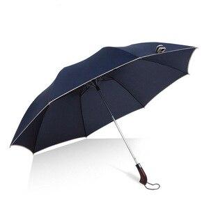 Image 2 - 128cm גדול מטרייה אוטומטית 128cm גברים גשם אישה Windproof גדול זכר נשים שמש 2 Floding מטרייה גדולה נסיעות חיצוני