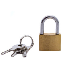1 Pcs 20MM Small Copper Lock With Keys Luggage Case Padlock Storage Lockers Mini Home Improvement Hardware Free Shipping
