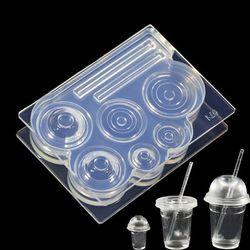Handgemaakte Siliconen Mal Hars Ambachten Decoratieve DIY Holle Fles Cup UV Crystal Epoxy Mallen
