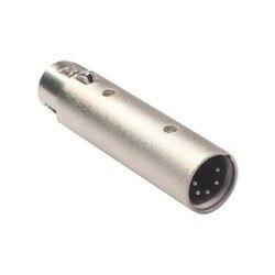 Konwerter 3 Pin XLR żeńskie do 5 Pin XLR adapter z męskim złączem do kamery DMX sygnał świetlny nowy w Wtyczki i złącza od Elektronika użytkowa na