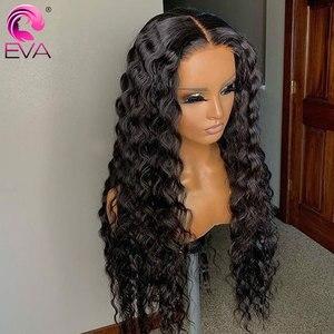 Image 2 - Peluca de ondas profundas de cabello Eva, pelucas de cabello humano sin pegamento, con encaje frontal rizado brasileño prearrancado para mujeres negras, cabello Remy