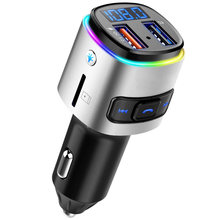 Charger Cable Handsfree Car Kit Bluetooth Wireless FM Transmitter LCD MP3 Player USB Charger Car Accessories Audio Cable(China)