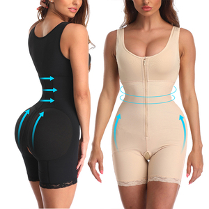 Image 1 - Kadın ince iç çamaşırı tek parça Bodysuit Shapewear bayan Underbust vücut şekillendirme iç çamaşırı artı boyutu bel eğitmen Butt kaldırıcı kalça