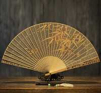 Classical Suzhou In National Customs Arts And Crafts Sandalwood Fan Gift Fan Hollow Out Folding Fan Sandalwood Fan