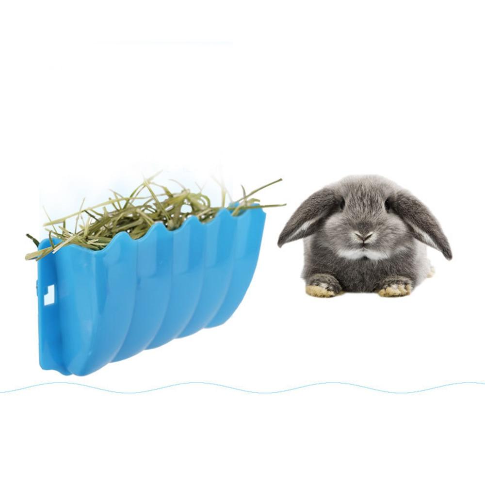 Hanging Hay Grass Manger Rack Feeder Rabbit Guinea Pig Plastic Dish Bowl Feeding Basket 1pc Random Color