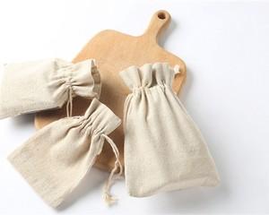 Image 3 - Подарочные пакеты из натурального льна, мешочки с джутовым шнурком для макияжа, ювелирных изделий, 8x11 см 9x12 см 10x15 см 13x17 см, упаковка из 50 индивидуальных логотипов