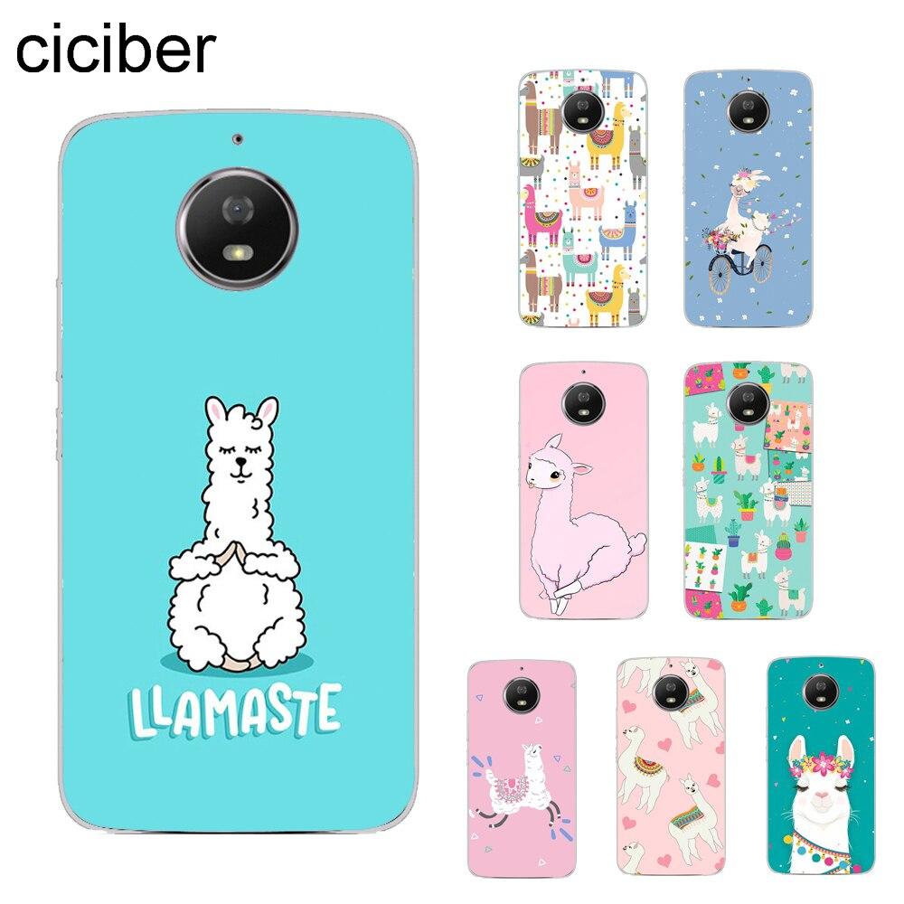 Animals Llama Alpaca Cover For Motorola Moto ONE C Z2 Z3 G5 G4 G5S G6 P30 E3 E4 E5 Plus Play Power X4 M Phone Case TPU