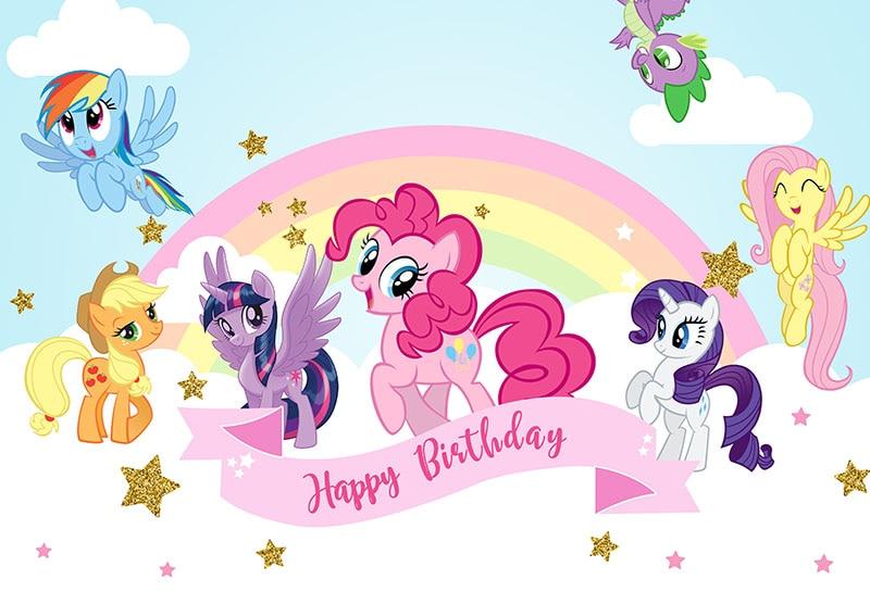 Fotografi Latar Belakang Pink Little Pony Fotografi Latar Belakang Baru Lahir Pesta Ulang Tahun Foto Latar Belakang 7x5ft Vinyl Photo Booth Alat Peraga Background Aliexpress