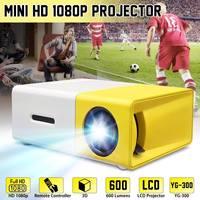 YG-300 Мини ЖК-светодиодный проектор 400-600 люмен 320x240 800: 1 поддержка 1080P портативный офисный домашний проектор фильмов
