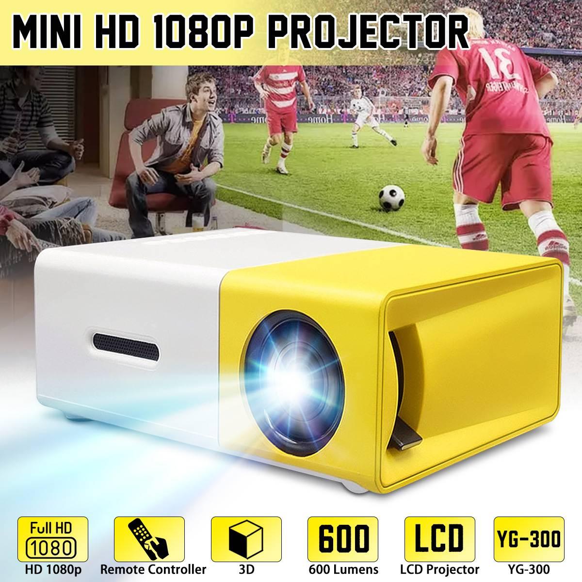 YG-300 LCD Mini Projector LED 400-600 Lumens 320x240 800: 1 apoio 1080P Portátil de Escritório Home Cinema Proyector