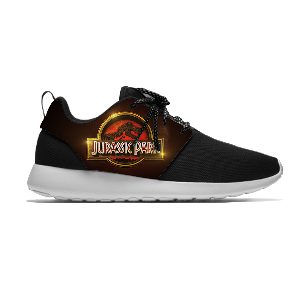 Jurassic Park Movie dinosaur Funny Fashion Classic Sport Running Shoes Lightweight Breathable 3D Printed Men Women Mesh Sneakers image
