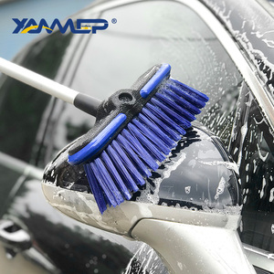 Image 4 - Car Wash Brush Water Flow Car Brush Replaceable Heads Truck Tire Cleaning Handle Brush Windows Car Cleaning Tools Xammep