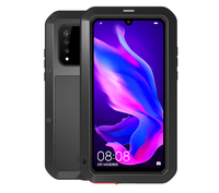 P30 Pro Case Love Mei Heavy Duty Powerful Cover For Huawei P30 Metal Case P30lite with Tempered Glass