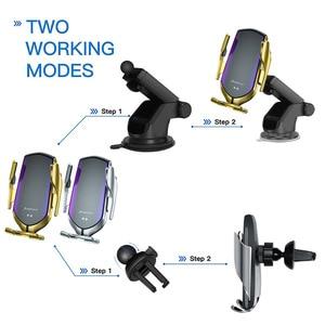 Image 2 - Qi bezprzewodowa ładowarka samochodowa automatyczne mocowanie uchwyt na telefon 10W szybka ładowarka stojak na iPhonea 11 X XS XR 8 Samsung S10 S9 uwaga 10